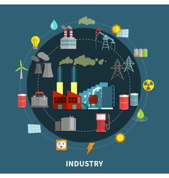 with industry elements vector image