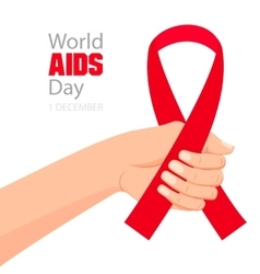 World aids day card vector