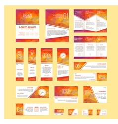 Set of brochures flyers banners business and vector image