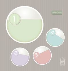 Sticker label color set vintage style vector