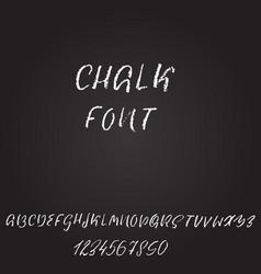 Handwritten chalked font imitation texture vector