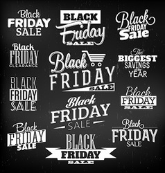 Black friday calligraphic designs vector