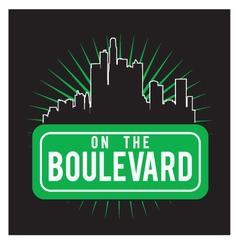 boulevard vector image