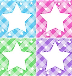 Stars template vector