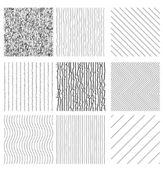 Set of Hand Drawn style Textures vector image