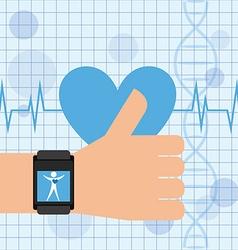 Cardiology app design vector