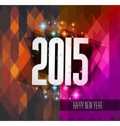 Original 2015 happy new year hipster background vector