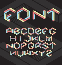Hexagon font vector