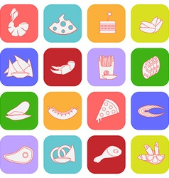 Colorful flat beer snacks vector