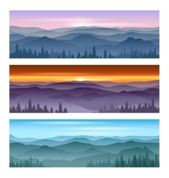 Sunrise at mountains sunset backgrounds vector