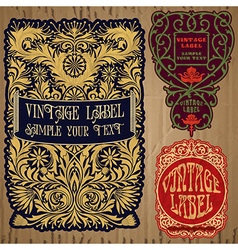 vintage items - label vector image