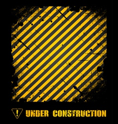 Grunge under construction texture background vector