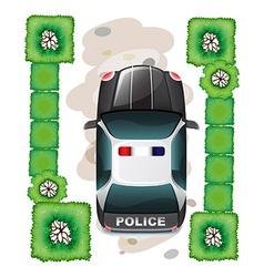 A topview of a police car vector