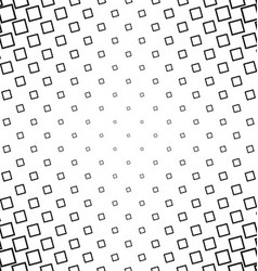 Abstract black white angular square pattern design vector image