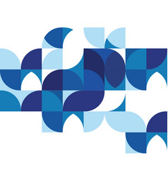 Abstract modern blue geometric background vector