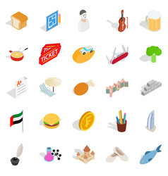 active entertainment icons set isometric style vector image