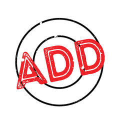 Add rubber stamp vector