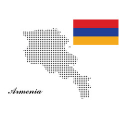 armenia map with polka dots and the armenia vector image vector image
