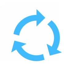 Arrow sign rotation icon reload button refresh vector image
