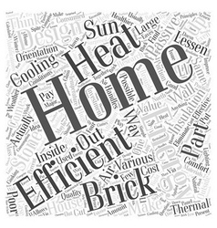 Brick stone home energy efficient word cloud vector