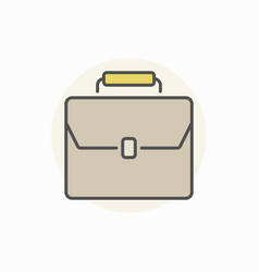 Briefcase colorful icon vector