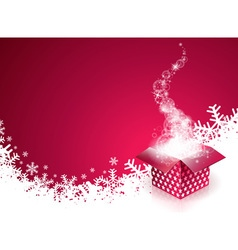 Christmas design with gift box vector image vector image