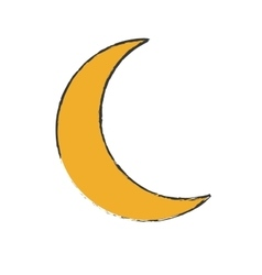 Crescent moon icon image vector