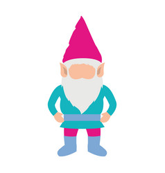 gnome without face and costume colorful on white vector image vector image
