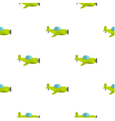 Green toy plane pattern seamless vector