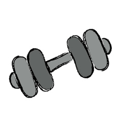 Gym iron weigth vector