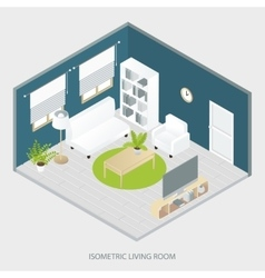 Isometric Living Room vector image