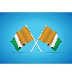 Ivory coast flag vector