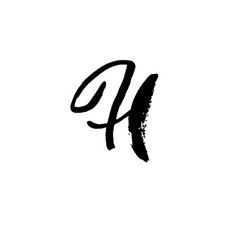 Letter h handwritten by dry brush rough strokes vector