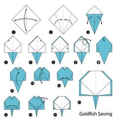 Make origami a goldfish saving vector