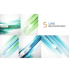 Mega collection of straight line backgrounds vector image vector image