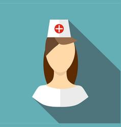 Nurse icon flat style vector