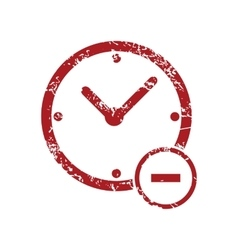 Reduce time red grunge icon vector