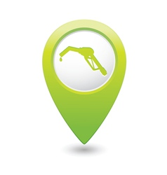 Refuelling icon green map pointer vector