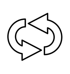 Reload arrow isolated icon vector