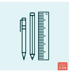 School supply icon vector
