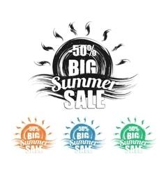 Summer sale black grunge vector