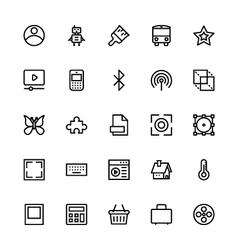 User interface colored line icons 34 vector