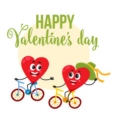 Valentine day greeting card design with heart vector