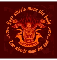 Vintage bikers badge retro chopper bike vector