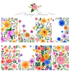 Watercolor floral background for designing purpose vector