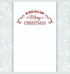 We wish you merry christmas greeting card template vector