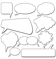 Talking bubbles vector