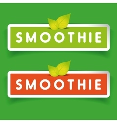 Smoothie label sign vector