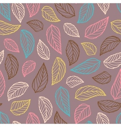 Colorful leaf silhouettes seamless vector image