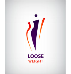 Woman shape fat and slim loose weight vector